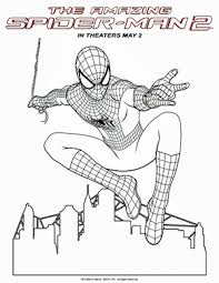 amazing spider man 2 coloring sheets movies dvds blu