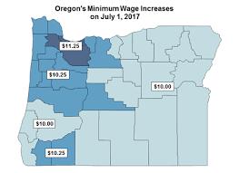 oregon s minimum wage increases on july 1 2017 article display