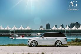 land rover white ag luxury wheels range rover forged wheels