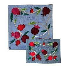 matzah cover and afikomen bag set silk appliqued matzah cover and afikoman bag set pomegranate