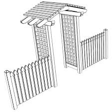 arbor trellis style 4 3d cgtrader