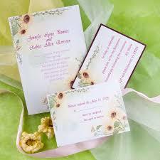 Sunflower Wedding Programs Fall Wedding Invitations Ideas For Your Autumn Weddings