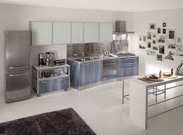 Aluminum Kitchen Cabinets Furniture Super Modern Kitchen With Stainless Steel Cabinets
