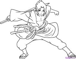 how to draw sasuke shippuden step by step naruto characters