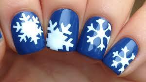 nail art tutorial easy snowflakes using stencils youtube