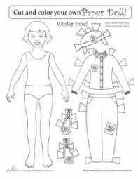 winter paper doll boy paper dolls worksheets and dolls