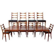 West Indies Dining Room Furniture by Lane Walnut Dining Room Table And Ten Chairs At 1stdibs