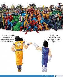 Memes De Vegeta - goku and vegeta vs marvel cool stuff pinterest marvel memes