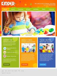 kindergarten flyer template colorful day care nursery kindergarten