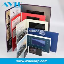 Size For Business Cards Lcd Screen Brochure Video Card For Business Gift Lcd Video Book