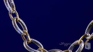 large gold link necklace images Phillip gavriel large oval link chain necklace in sterling silver jpg