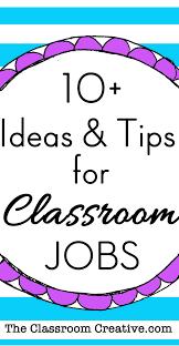 Home Decor Jobs by Classroom Jobs Chart Tips U0026 Ideas