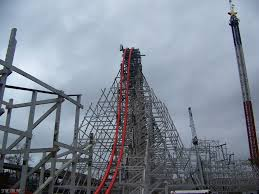 Six Flags Height Wicked Cyclone Construction Tour