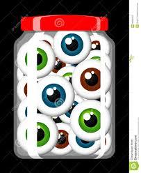 halloween eyeballs in a jar