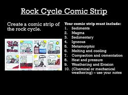 rock cycle comic strip project ms a science online