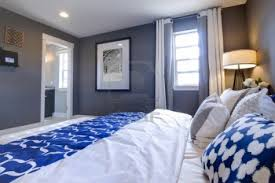 White And Blue Modern Bedroom Modern Bedroom Blue Walls Picture Ideas With King Bedroom Sets In