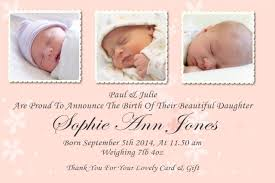 Personalised Christening Invitation Cards Baby Announcement Cards Bespoke Candy Delights