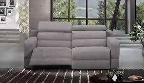 canapé 2 places relax cuir cosyo canape 2 places relax electrique cuir ou tissu avec systeme