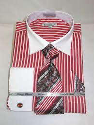 daniel ellissa ds3787p2 red men u0027s french cuff dress shirt with