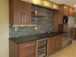modern walnut aluminum glass kitchen beautiful floating shelves