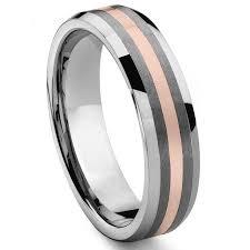 gold wedding band tuscano 6mm tungsten carbide 14k gold inlay wedding band