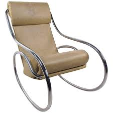 Rocking Chair Chicago Mid Century Modern Tubular Chrome Rocking Chair For Sale At 1stdibs