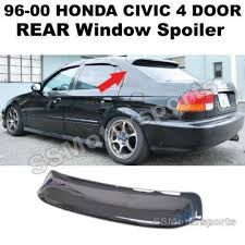 honda civic rear civic rear visor spoilers wings ebay