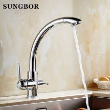 discounted kitchen faucets sale kitchen crane dual handle swivel water faucet spout