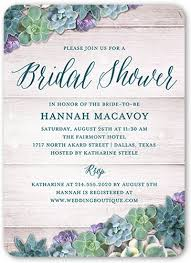 succulent wedding invitations spectacular succulents 5x7 personalized bridal invitation shutterfly