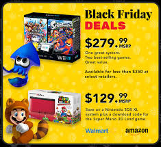 wii u black friday sale 2014 target nintendo reveals wii u 3ds holiday bundles and discounts gaming age