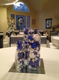 Christmas Tree Centerpieces Wedding by Blue And Silver Wedding Centerpieces Even Tho Its In August This