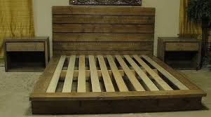 Rustic Platform Bed Custom Made Queen Rustic Platform Bed By Artisan Wood Custommade Com