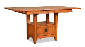 oak park counter height table and four stools oak levin furniture
