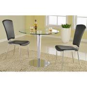Glass And Chrome Dining Table Round Glass Dining Tables