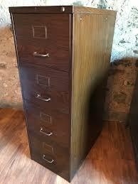 Wood 4 Drawer Filing Cabinet by Kendalls Conwy Vintage Industrial Retro Furniture Vintage Metal
