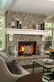 Living Room Mantel Decor Fireplace Hearth Decor Living Room Traditional With Side Table