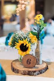 sunflower centerpieces 100 bold country sunflower wedding ideas sunflower centerpieces
