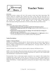 parts of a microscope lesson plans u0026 worksheets reviewed by teachers