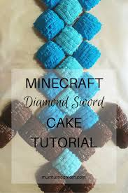 minecraft diamond sword cake tutorial minecraft sword cake