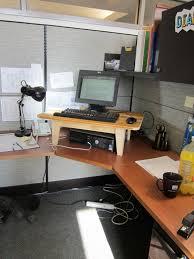 appealing rectangle black wooden stand up desk converter metal