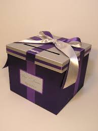 Money Wedding Gift Bling Silver And Purple Wedding Money Box Card Box Gift By