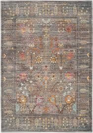 Safavieh Rugs Grey Floral Design Area Rug Safavieh Transitional Rugs