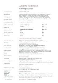 catering assistant jobs resume sample for high student no experience resume