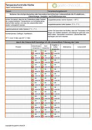reinigungsplan küche gratis haccp checklisten das informations portal für die gastronomie