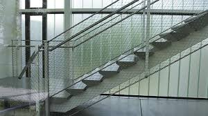 Stainless Steel Banister Rail Stainless Steel Railing Wire Mesh Indoor Outdoor Webnet N1