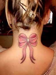 neck pink ribbon tattoos ideas for for
