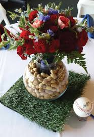 baseball centerpieces sports themed weddings sports themed wedding reception centerpieces