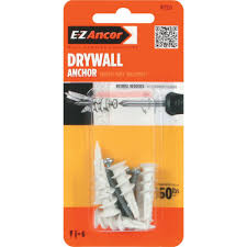 e z ancor twist n lock 50 lb self drilling drywall anchors with