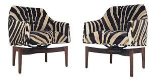 jens risom walnut swivel chairs a pair chairish