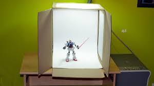 how to build a light box for gunpla photography gunpla 101